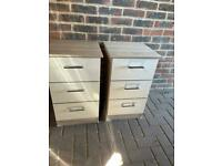 Bedside tables cabinets drawers