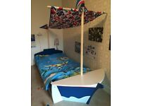 Boat / pirate bed from Next single bed