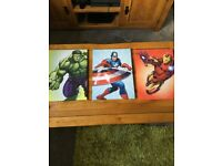 Marvel canvas pictures - Hulk, Ironman and Captain America