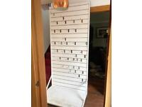 Shop craft stall display peg board for hanging goods