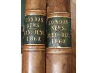 Illustrated London News complete for 1860 in 2 volumes