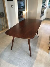 Walnut Stained Ercol Dining Table Seats 6 comfortably