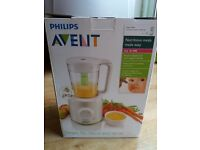 Philips AVENT SCF870/21 Combined Baby Food Steamer and Blender NEW!!!