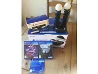 PS4 Vr with 2 games,Camera and PlayStation move controllers