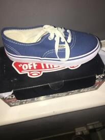 Children's pair of vans shoes / trainers brand new