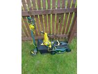 Tesco lawnmower and strimmer