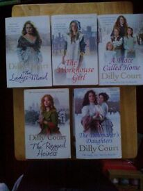 5 DILLY COURT PAPERBACK BOOKS
