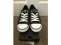 BNIB Converse All Star Dainty black multi trainers. Size 4.