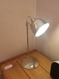 John Lewis chrome desk lamp