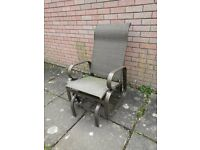 Metal and Fabric Patio Single Seat Glider Rocker Chair( Please view all photos carefully)