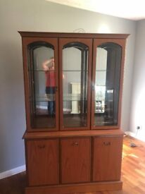 Display cabinet, corner unit and small cabinet