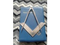 Masonic compasses square and bible