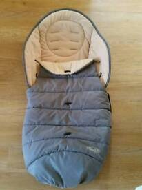 Graco stroller pushchair footmuff cosy toes grey. Excellent condition