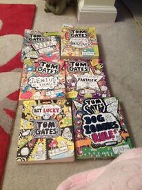 Six Tom Gates books