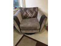 Sofa with swivel chair