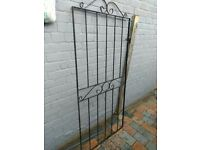 Metal gate with brackets 81cm by 180cm good condition