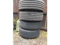 235/60/16 Tyres on Toyota Rav 4 wheels