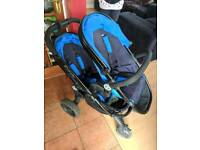 ICandy peach double/single pushchair with carrycot