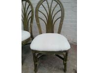 CONSERVATORY OLIVE / GREEN CHAIRS X2
