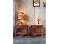 2 x Vintage Teak Bedside Tables