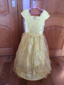 Belle's Disney dress size 5-6. Also Super-girl and Bat-girl dresses.