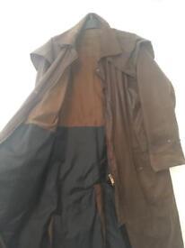 Harry Brown Wax Jacket Coat Full Length