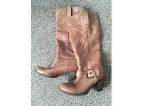 tan long boots