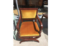 Mahogany Armchair - Good Quality and Condition - Lovely Detail Free Local Delivery.
