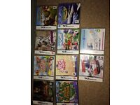 10 ds games including animal crossing wild world used