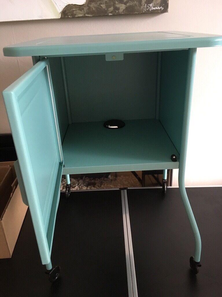 Pair Of Turquoise Ikea Vettre Bedside Cabinets In Hazel