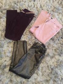 Girls trouser bundle 7/8 yrs