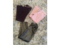 Girls trouser bundle 7/8 yrs