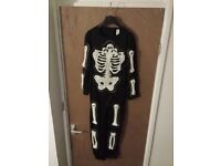 Boys 9-10y (134-140cm) Halloween costume (skeleton) immaculate condition Darlington