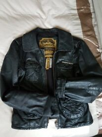 Superdry Womens Leather Jacket (Size M)