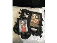 Gothic/Baroque style frame with pictures