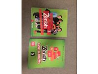 French text books unused. Zénith 3 including Cahier d'activités and CD's