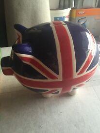 Two Union Jack Pig Money Box