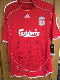 Signed Liverpool football top