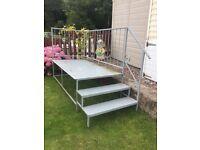 Metal Caravan Steps/Veranda