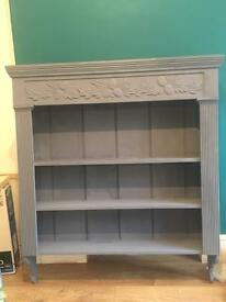 Shelving unit painted in Annie Sloane Old violet