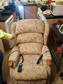 electric reclining heating and massaging chair