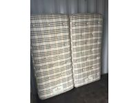 Super King Size, Zip & Link Mattress, Excellent Condition, Free Delivery In Norwich,