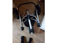 Quinny Buzz Pram Stroller with Carrycot, Seat and Raincover