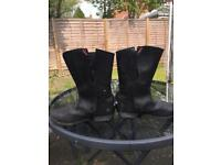 Ladies motorcycle/ motorbike leather boots