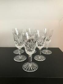 Set of 6 Crystal Sherry Glasses