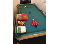 Cherished High Quality 6 Foot x 3 Foot Snooker and Pool Table complete with Snooker and Pool balls