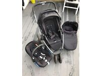Maxi-Cosi Mira Plus 3-in-1 Travel System Buggy - Black Raven
