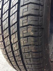 Brand new tyre on rim 195/60/15