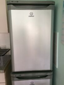 INDESIT Fridge AND Freezer in SILVER, as new ..........