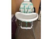 Highchair from Mothercare in good condition!